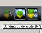 Il pulsante per accedere alle istruzioni di costruzione