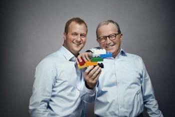Thomas e Kjeld Kirk Kristiansen - Photo by The Lego Group