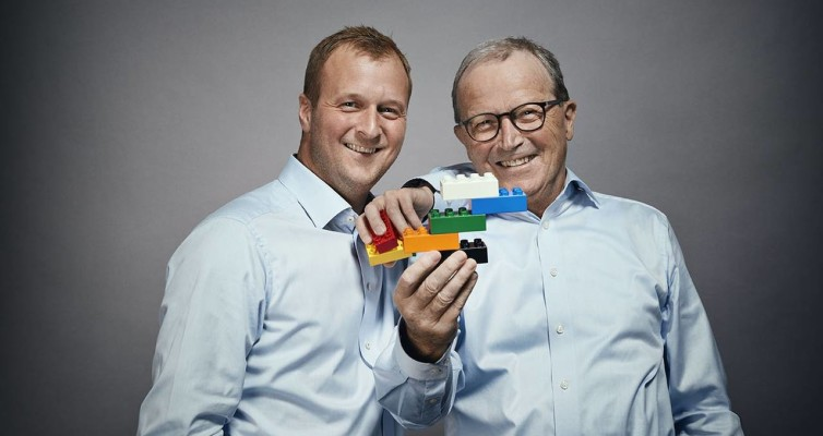Thomas e Kjeld Kirk Kristiansen - Photo by The Lego Group