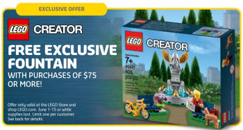 Lego Creator Fountain 40221